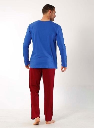 Mia Misenza Pamuklu Likralı Pijama Takım Saks